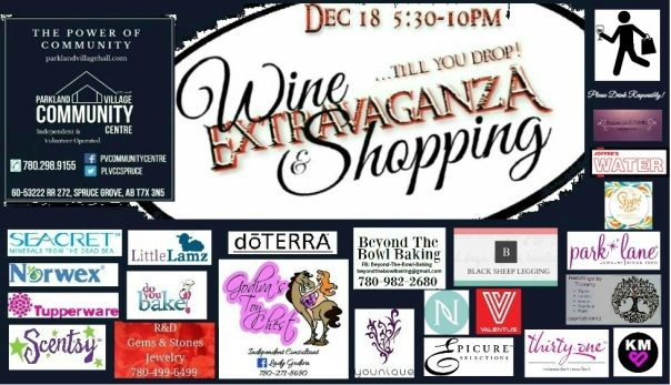 Dec18 Wine & Shopping Extravaganza
